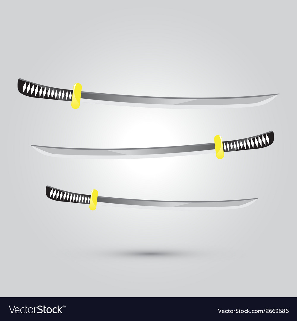 Japanese sword ninja weapon vector | Price: 1 Credit (USD $1)