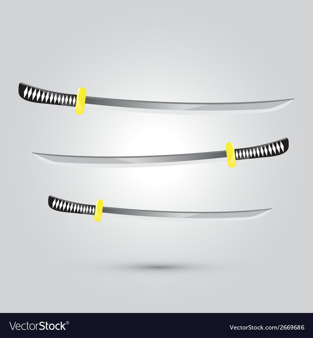 Japanese sword ninja weapon vector   Price: 1 Credit (USD $1)
