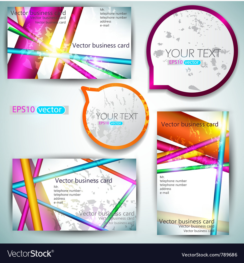Modern business-card set vector | Price: 1 Credit (USD $1)