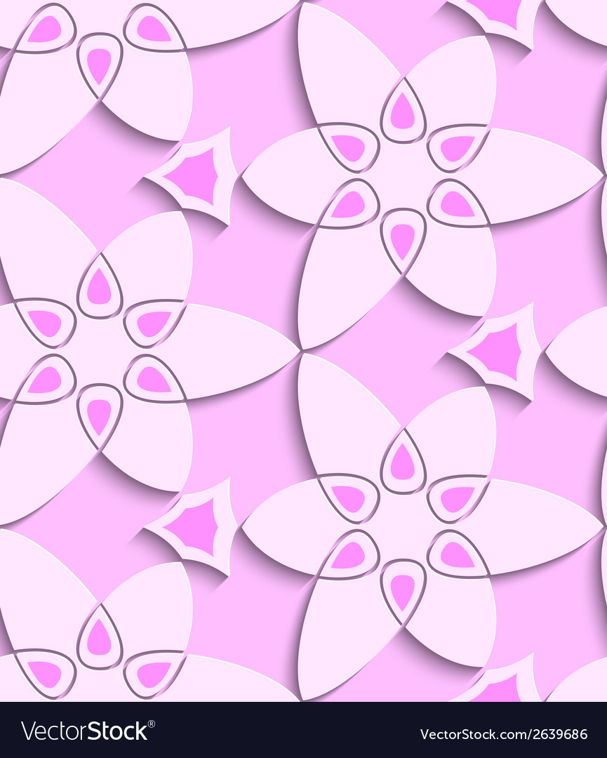 Pink floristic swirl seamless pattern vector | Price: 1 Credit (USD $1)