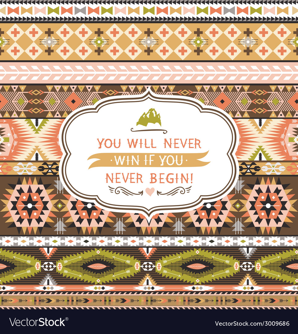 Seamless pattern in native american style vector | Price: 1 Credit (USD $1)