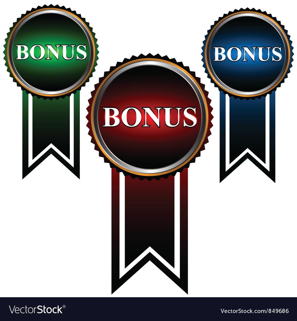Set from three icons a bonus vector