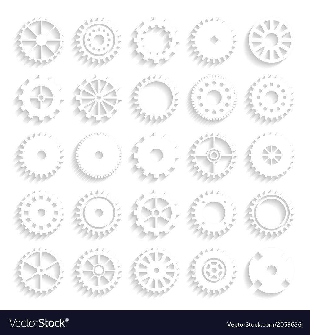 Set of gear wheels isolated on a background vector | Price: 1 Credit (USD $1)