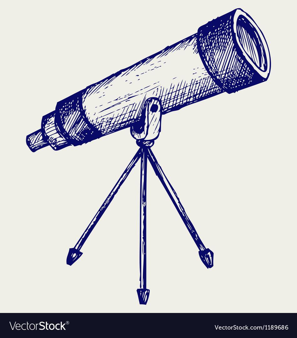 Telescope in tripod vector | Price: 1 Credit (USD $1)