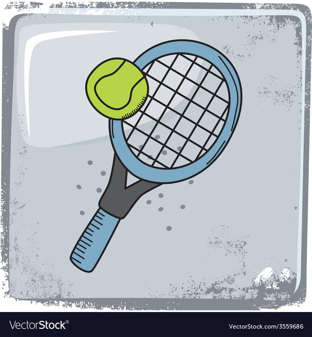 Tennis sports theme vector | Price: 1 Credit (USD $1)