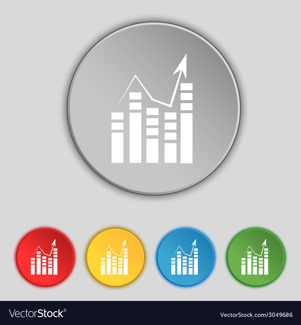 Text file icon add document with chart sign vector | Price: 1 Credit (USD $1)