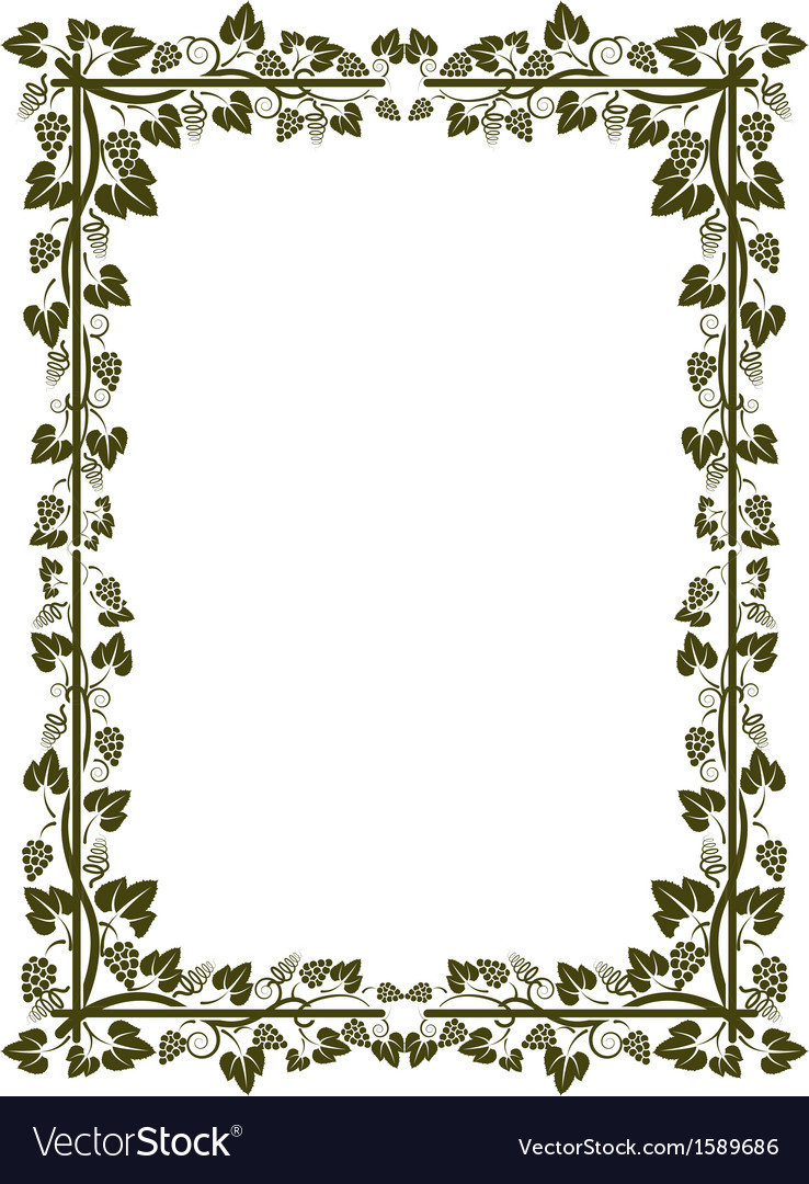 Vine frame vector | Price: 1 Credit (USD $1)