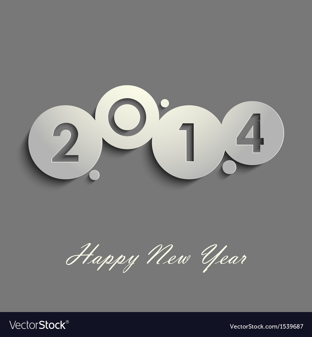 Abstract gray new years wishes vector | Price: 1 Credit (USD $1)