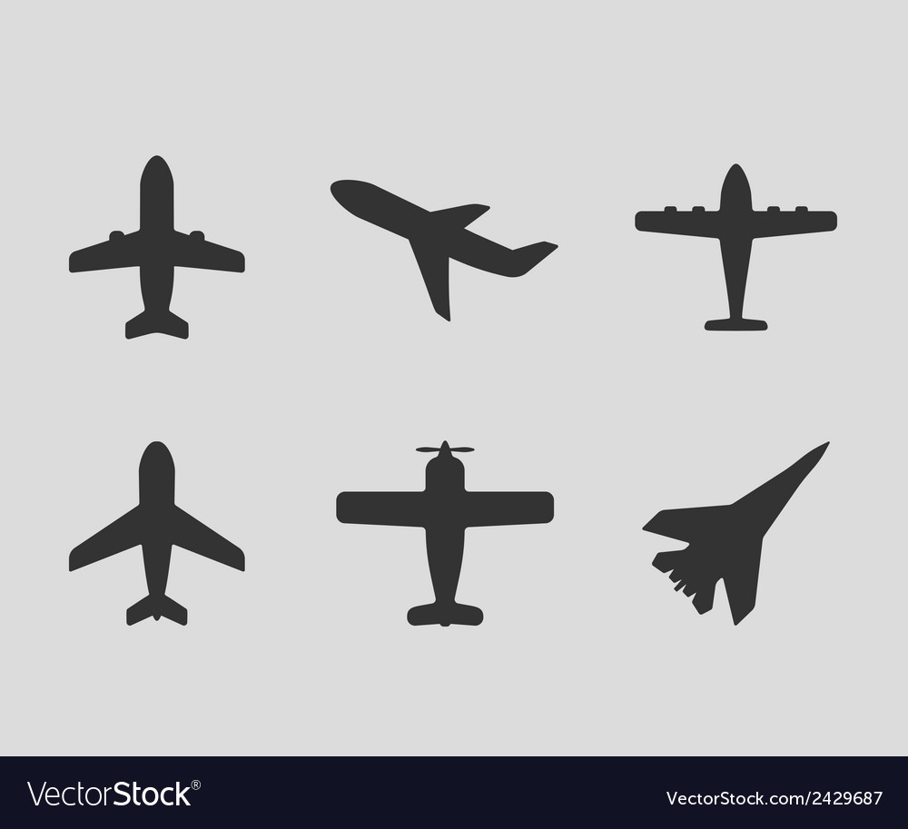 Airplane icons vector | Price: 1 Credit (USD $1)