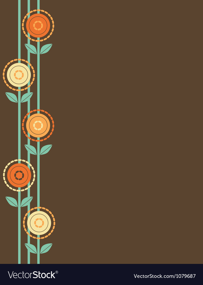 Brown flower border vector | Price: 1 Credit (USD $1)