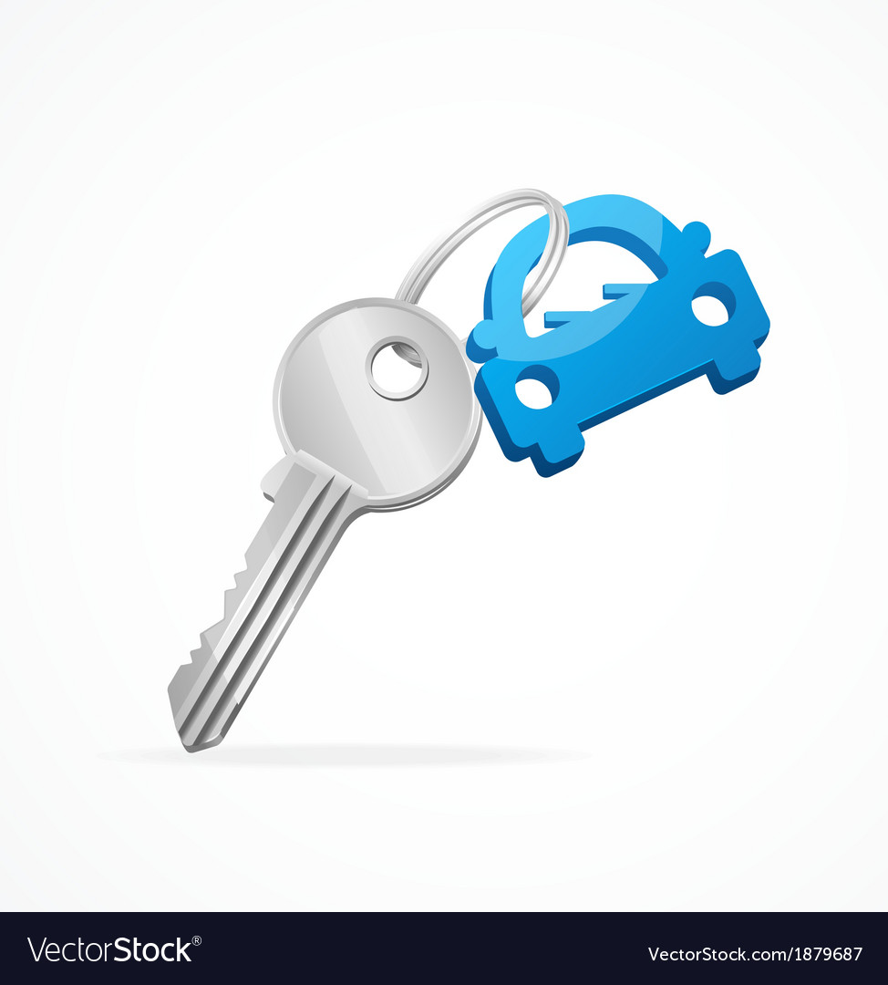 Car keys and blue key chain vector | Price: 1 Credit (USD $1)
