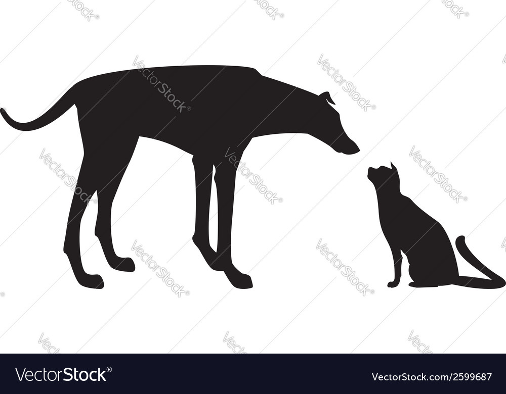 Cat et dog vector | Price: 1 Credit (USD $1)