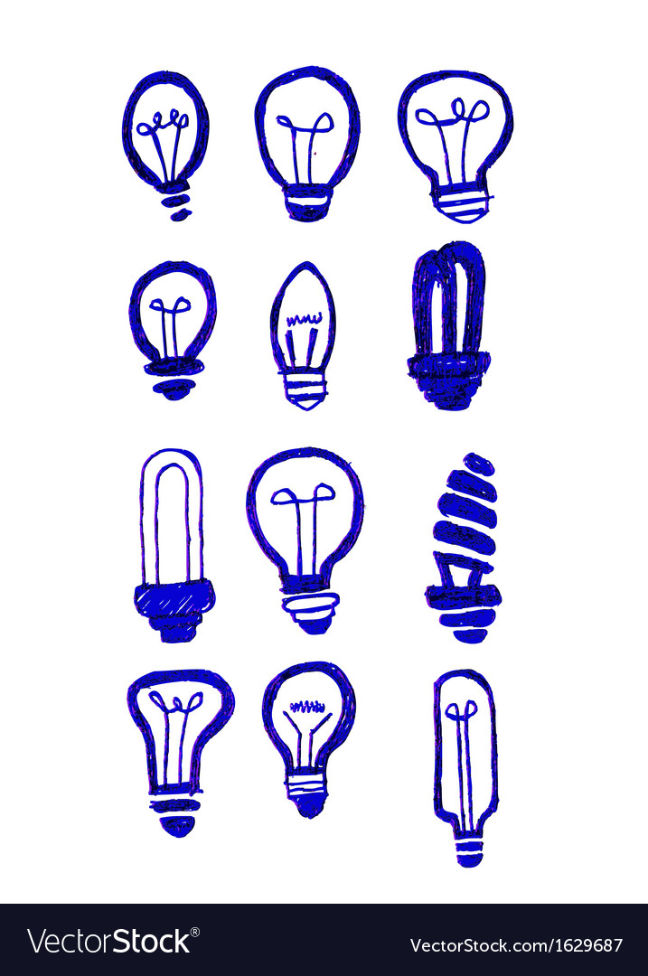 Concept of idea inspired bulb shape vector | Price: 1 Credit (USD $1)