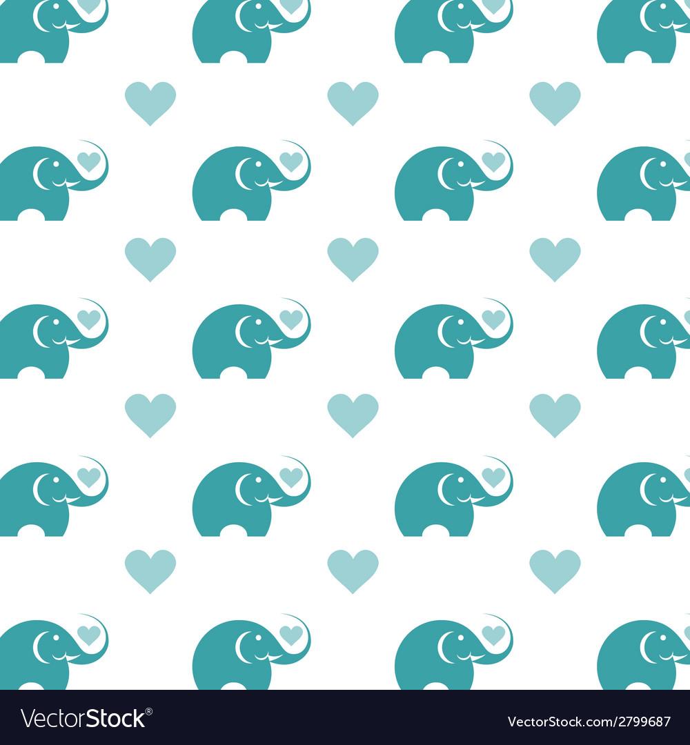 Elephant wallpaper vector