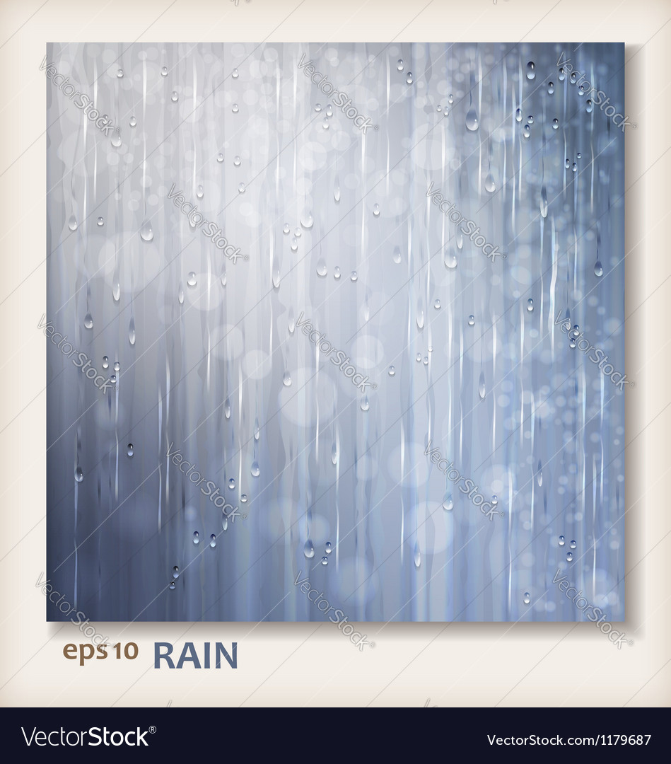Grey shiny rain abstract water background design vector | Price: 1 Credit (USD $1)