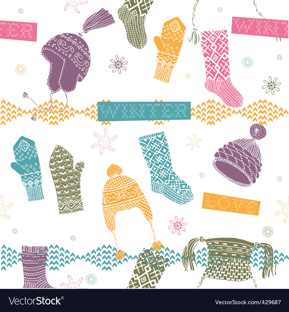 Knitted winter clothes vector | Price: 1 Credit (USD $1)