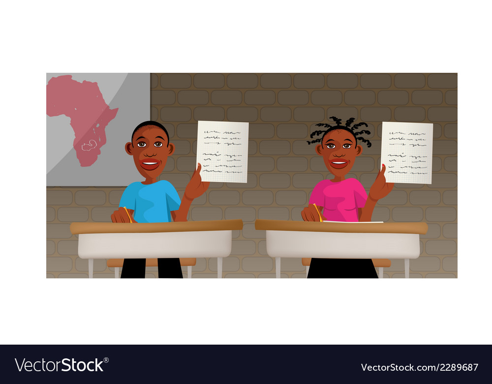 Students school africa vector | Price: 1 Credit (USD $1)