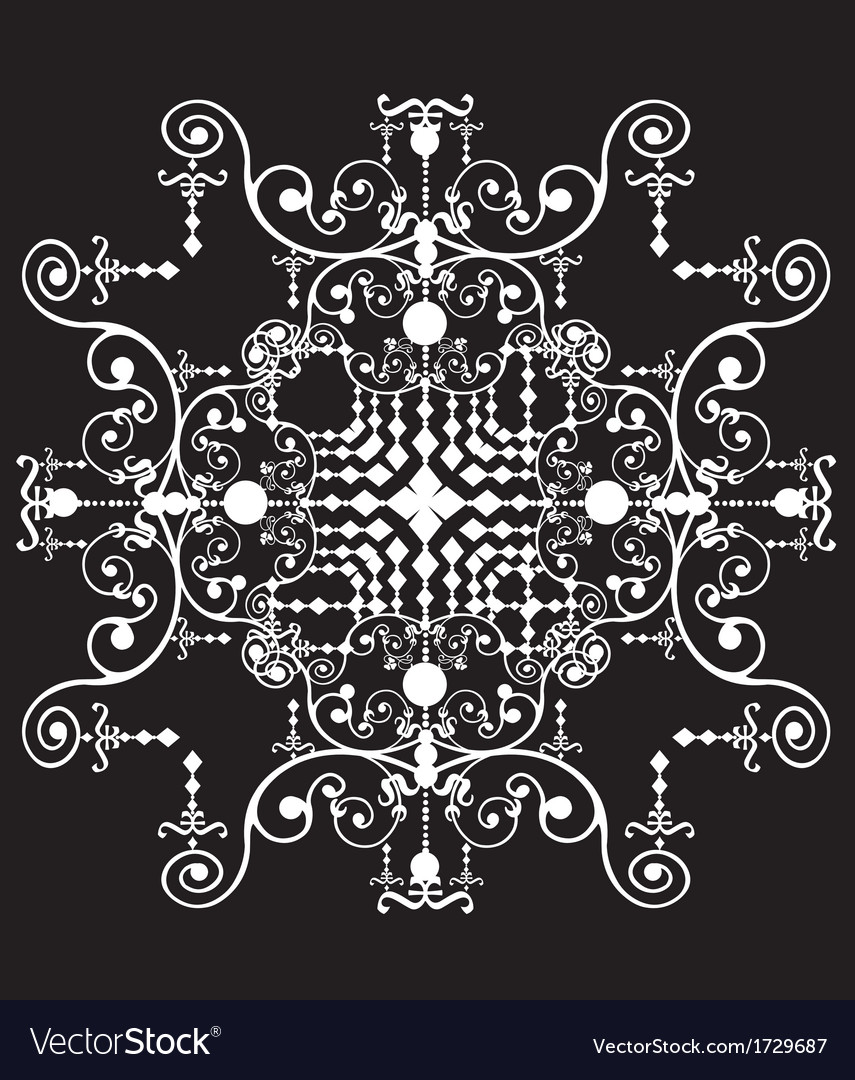 Symmetrical geometric shape vector | Price: 1 Credit (USD $1)