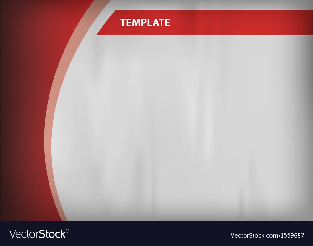 Template red curve side vector | Price: 1 Credit (USD $1)