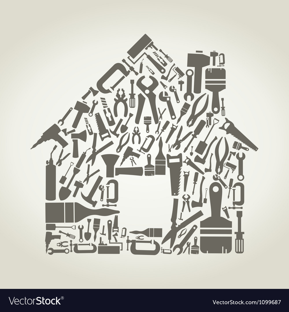 Tool the house vector