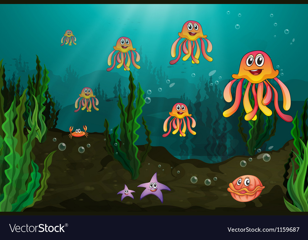 Underwater creatures vector | Price: 1 Credit (USD $1)
