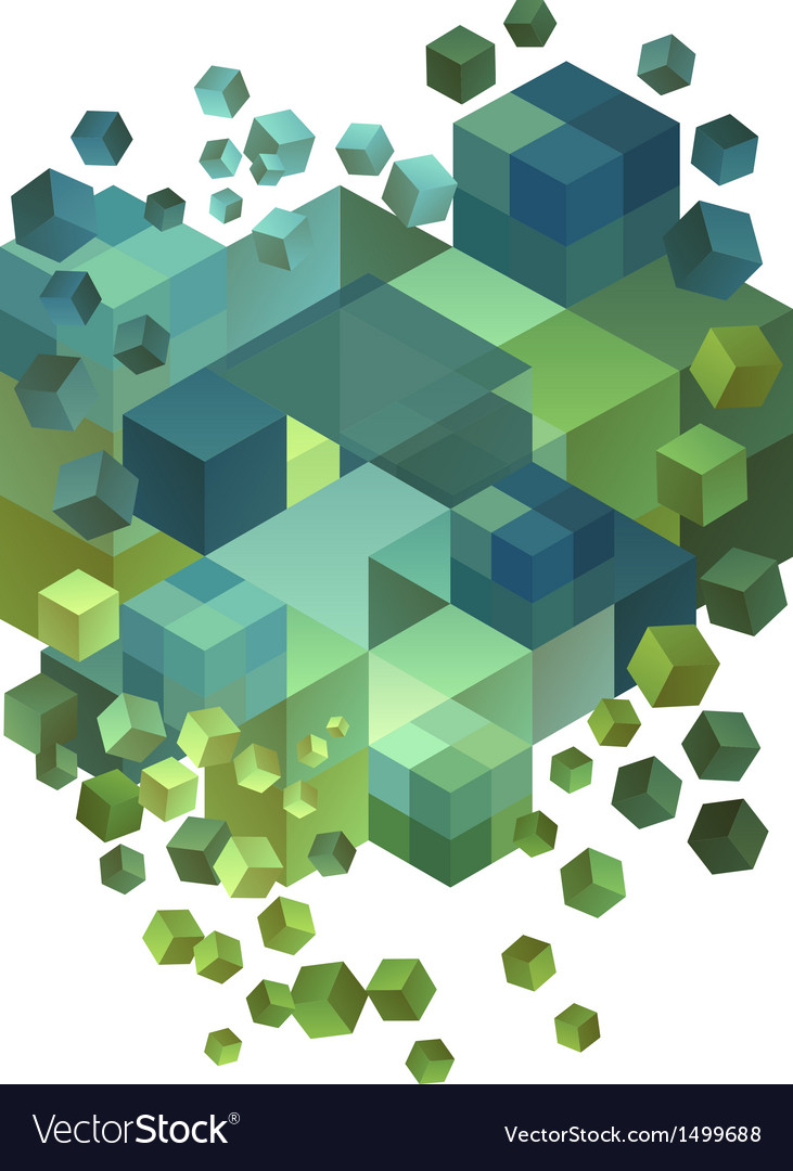Abstract 3d cubes vector | Price: 1 Credit (USD $1)