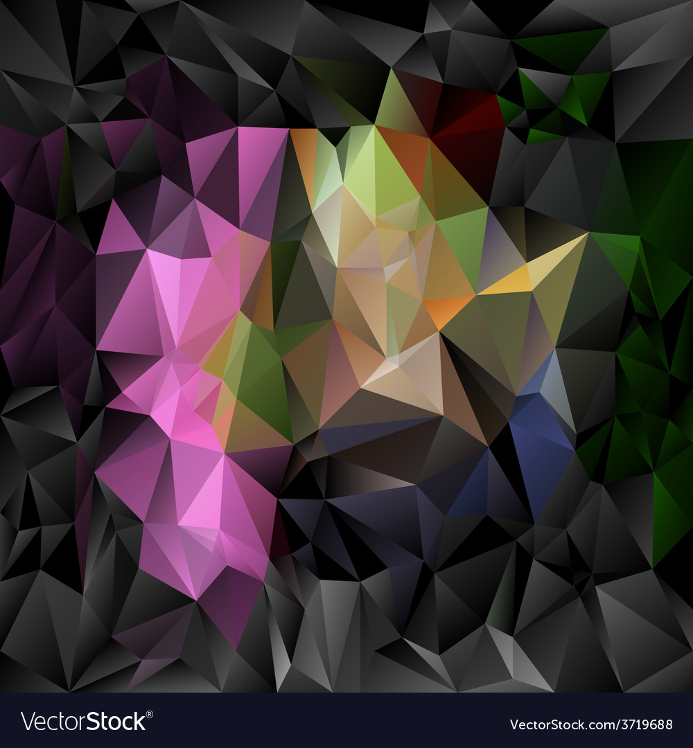 Black pink polygonal triangular pattern background vector | Price: 1 Credit (USD $1)