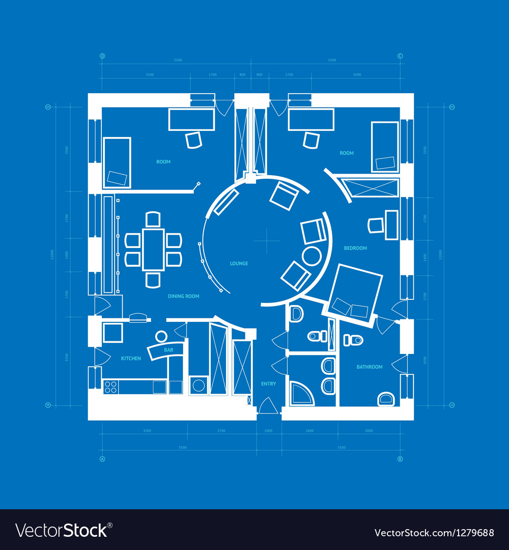 Blueprint abstract vector | Price: 1 Credit (USD $1)