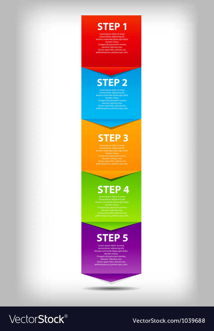 Concept of business process improvements chart vector | Price: 1 Credit (USD $1)