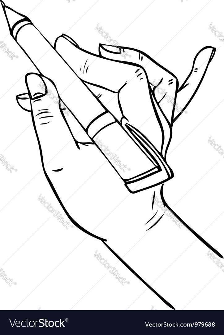 Hand writing pen vector | Price: 1 Credit (USD $1)