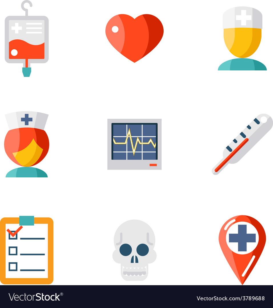 Isolated icons set medical vector | Price: 1 Credit (USD $1)