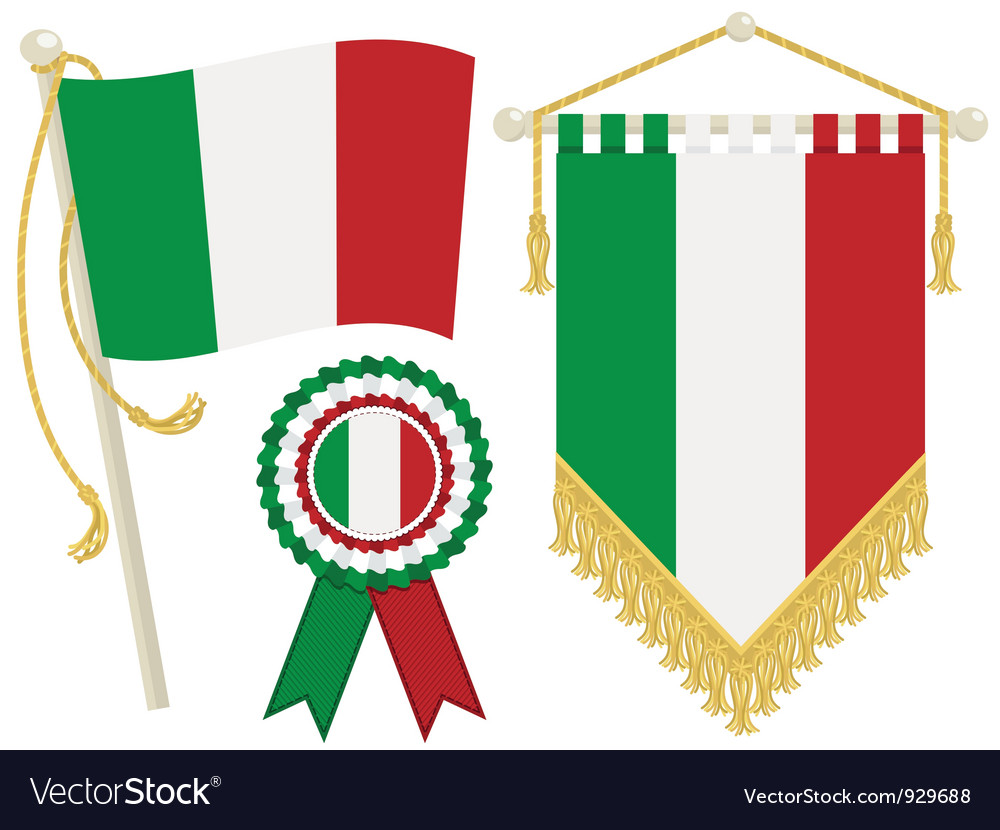 Italy flags vector | Price: 1 Credit (USD $1)