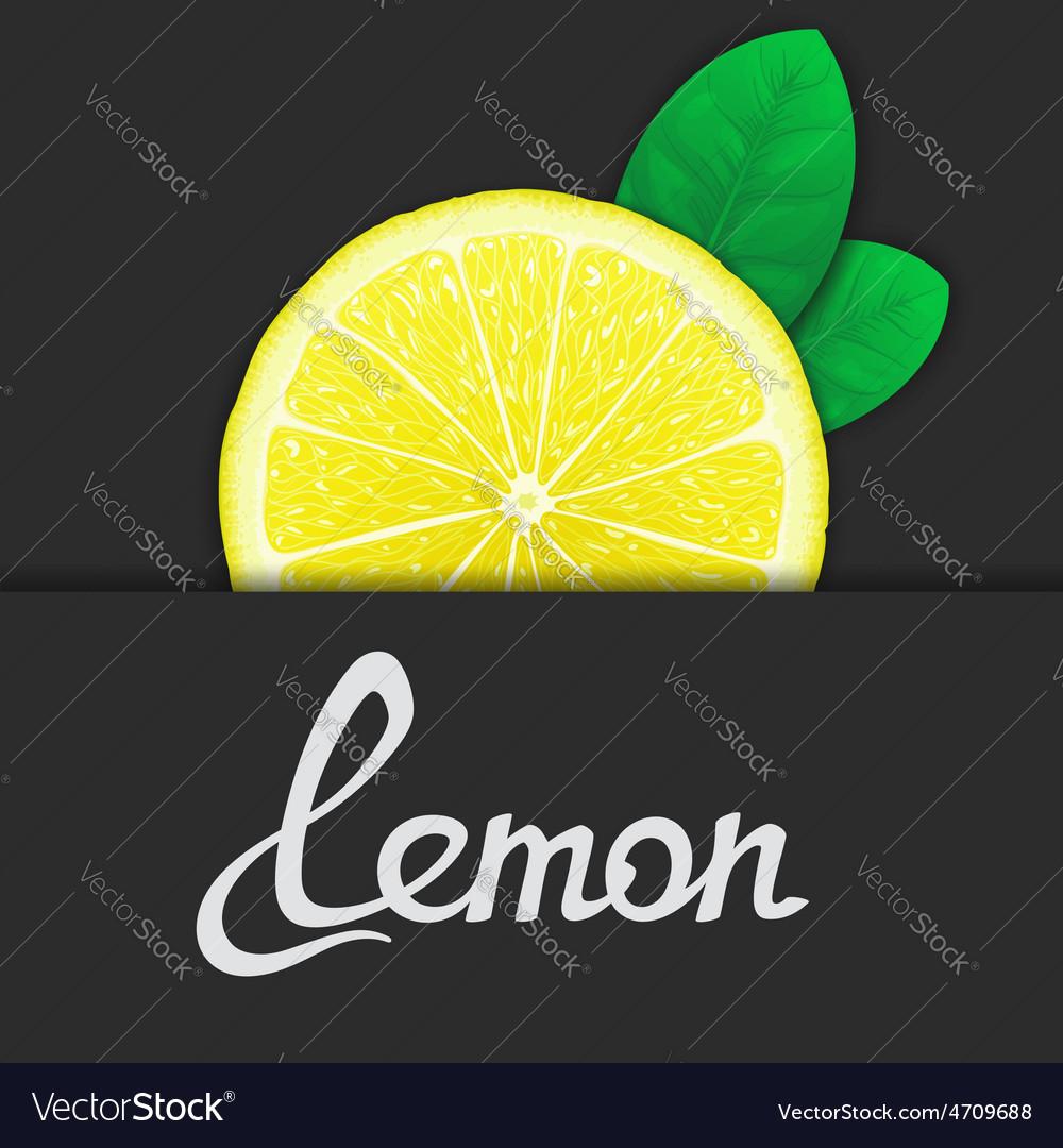 Just of lemon vector | Price: 1 Credit (USD $1)