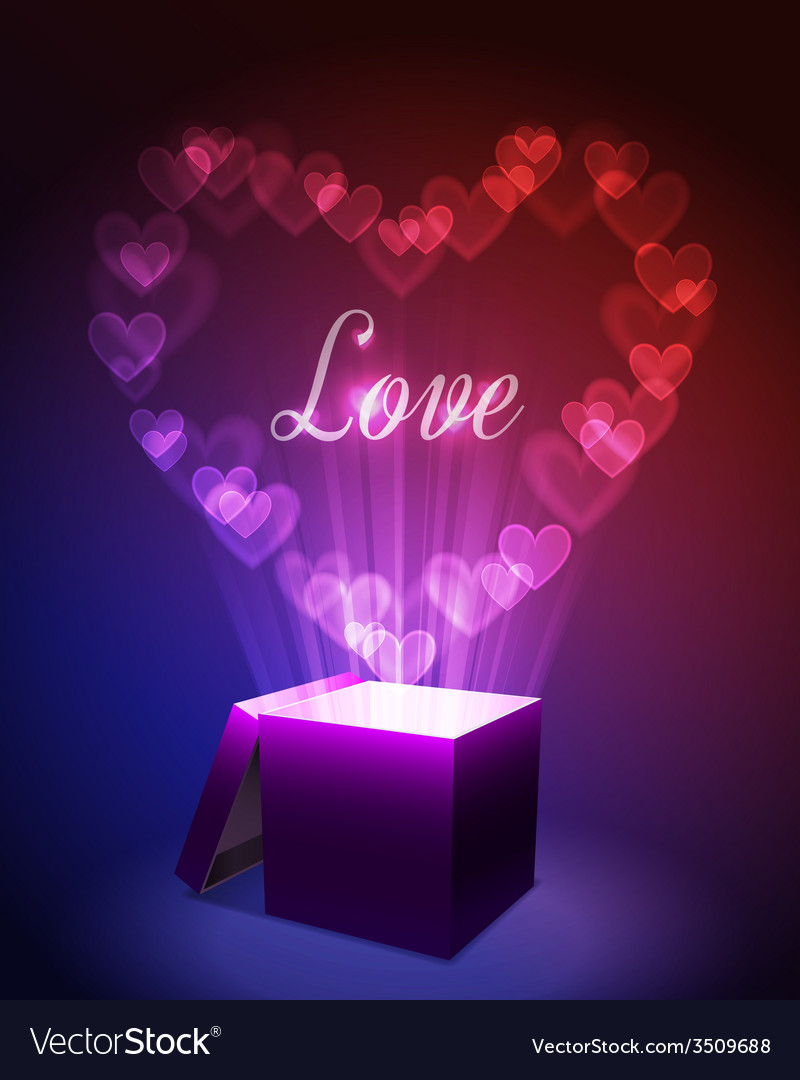 Love gift concept vector | Price: 1 Credit (USD $1)