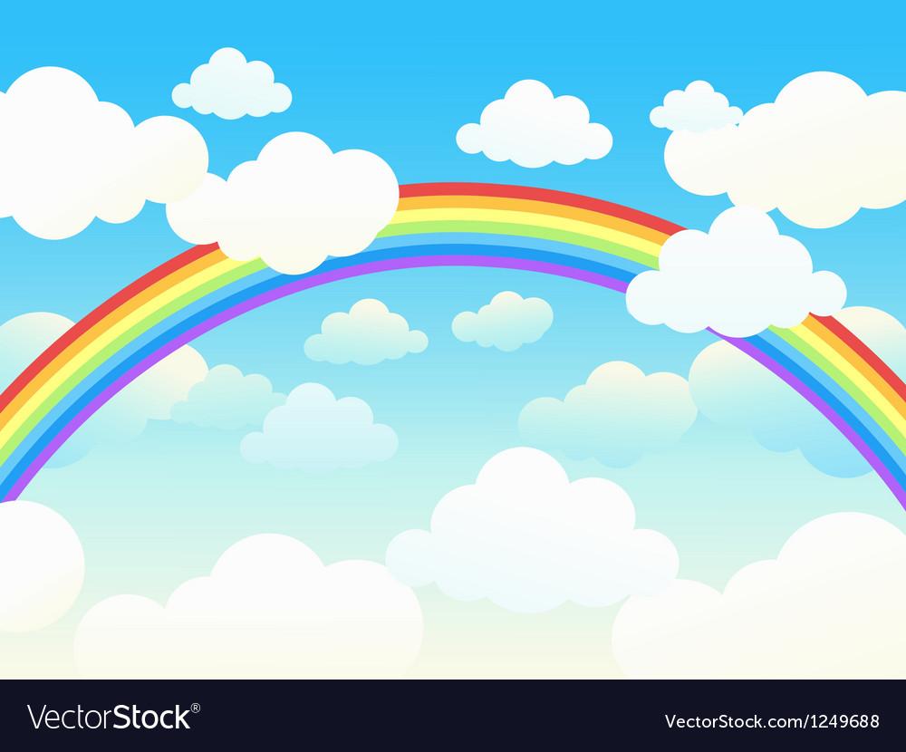 Rainbow sky vector   Price: 1 Credit (USD $1)