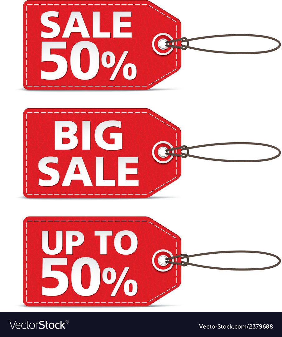 Red tag sale vector | Price: 1 Credit (USD $1)