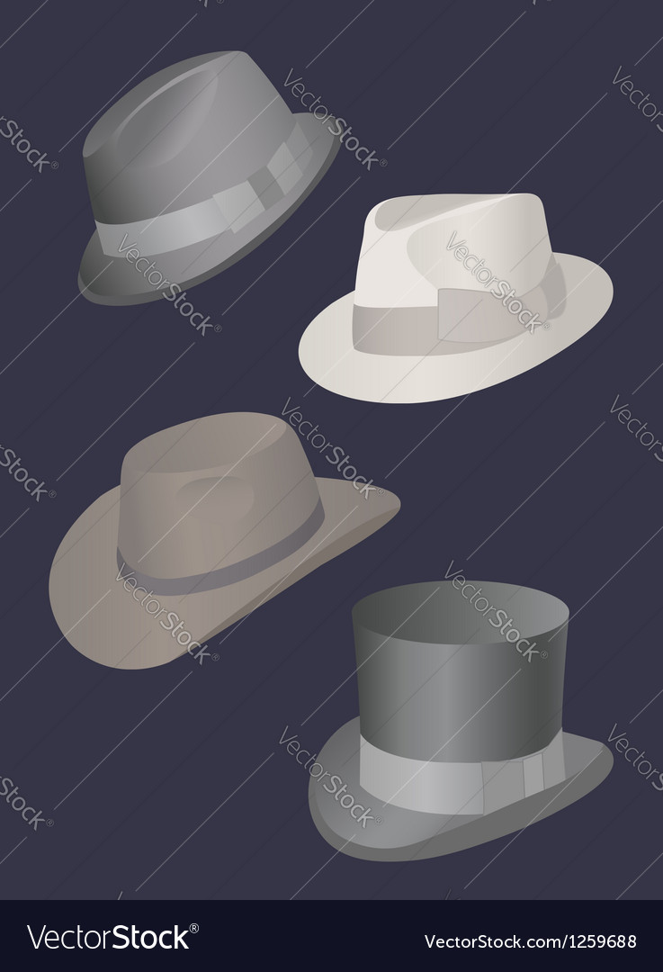 Set of mens hats vector | Price: 1 Credit (USD $1)