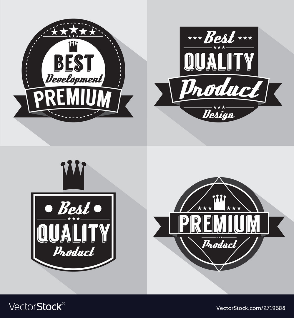 Set of vintage premium quality labels vector | Price: 1 Credit (USD $1)