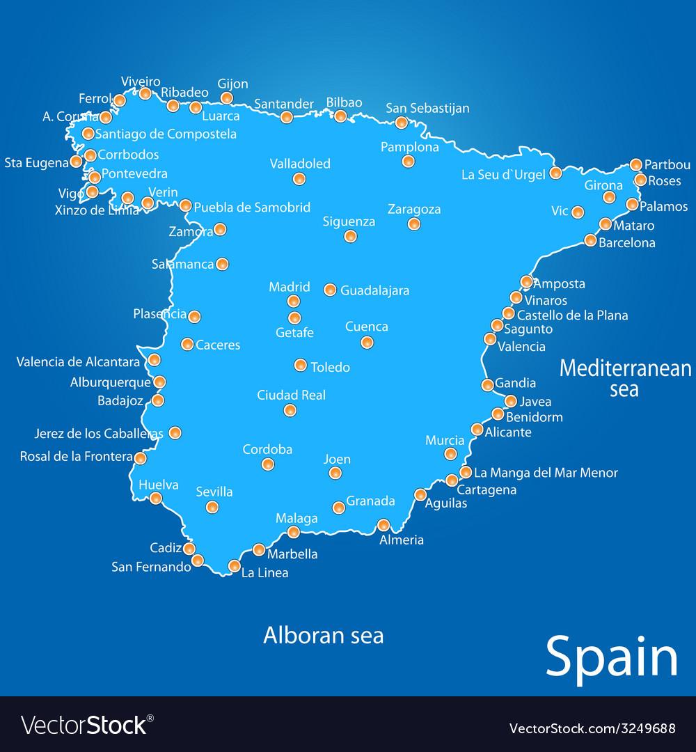 Spain map art vector   Price: 1 Credit (USD $1)