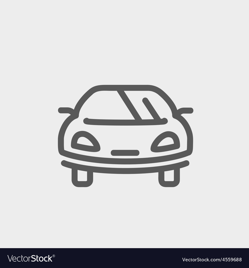 Sports car thin line icon vector | Price: 1 Credit (USD $1)