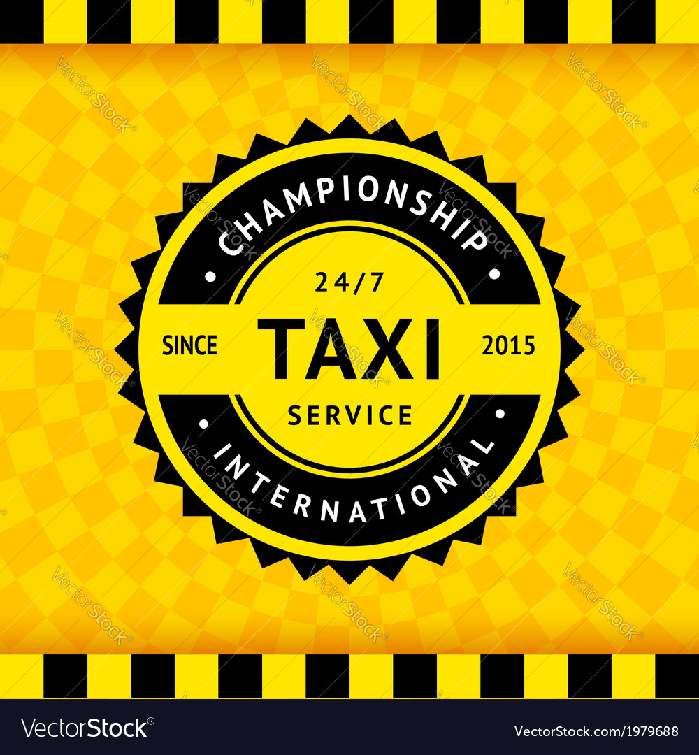 Taxi symbol with checkered background - 15 vector | Price: 1 Credit (USD $1)
