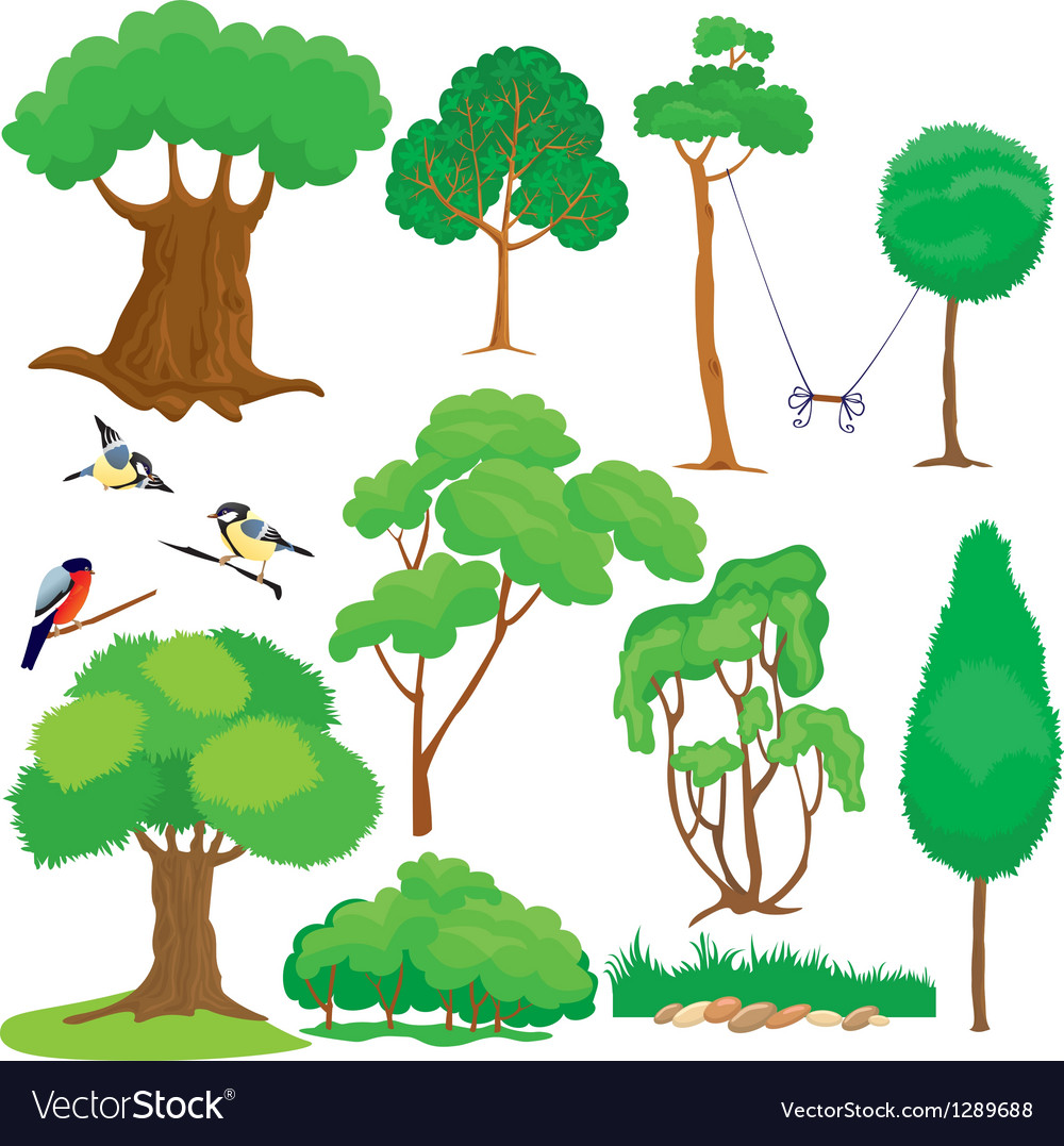 Tree set vector | Price: 1 Credit (USD $1)