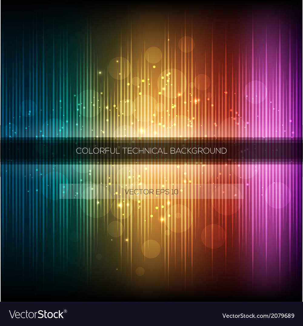 Abstract equalizer background colorful rainbow vector | Price: 1 Credit (USD $1)