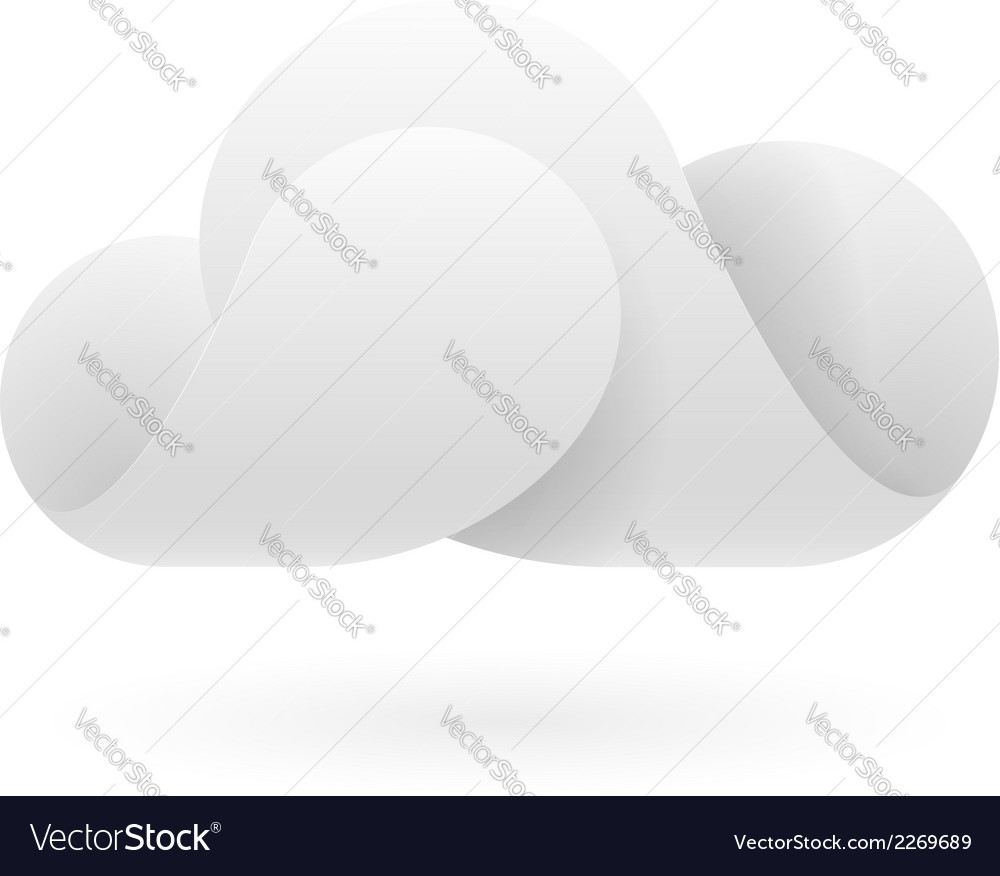 Abstract white cloud vector | Price: 1 Credit (USD $1)