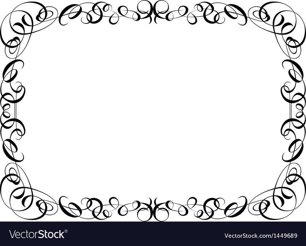 Calligraphy ornamental decorative frame vector | Price: 1 Credit (USD $1)