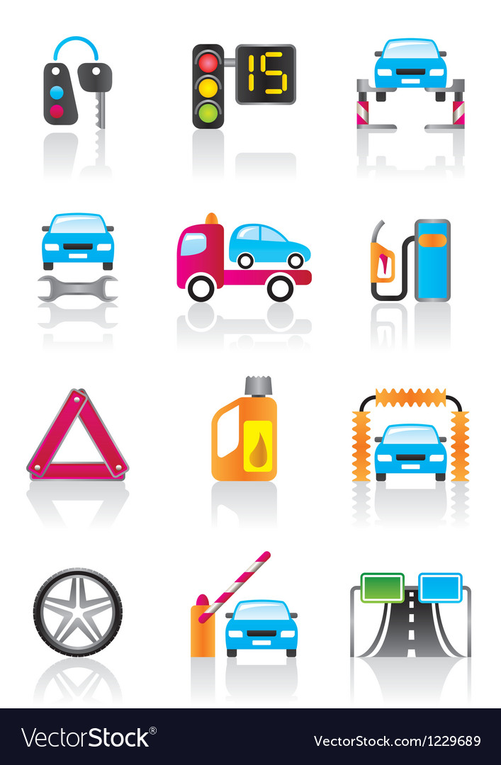 Car service auto assistance and auto accessories vector | Price: 1 Credit (USD $1)