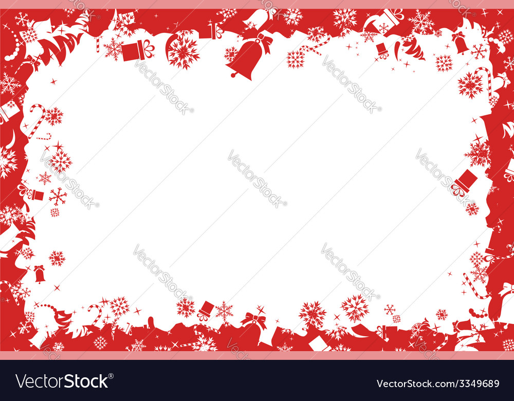 Christmas border vector | Price: 1 Credit (USD $1)