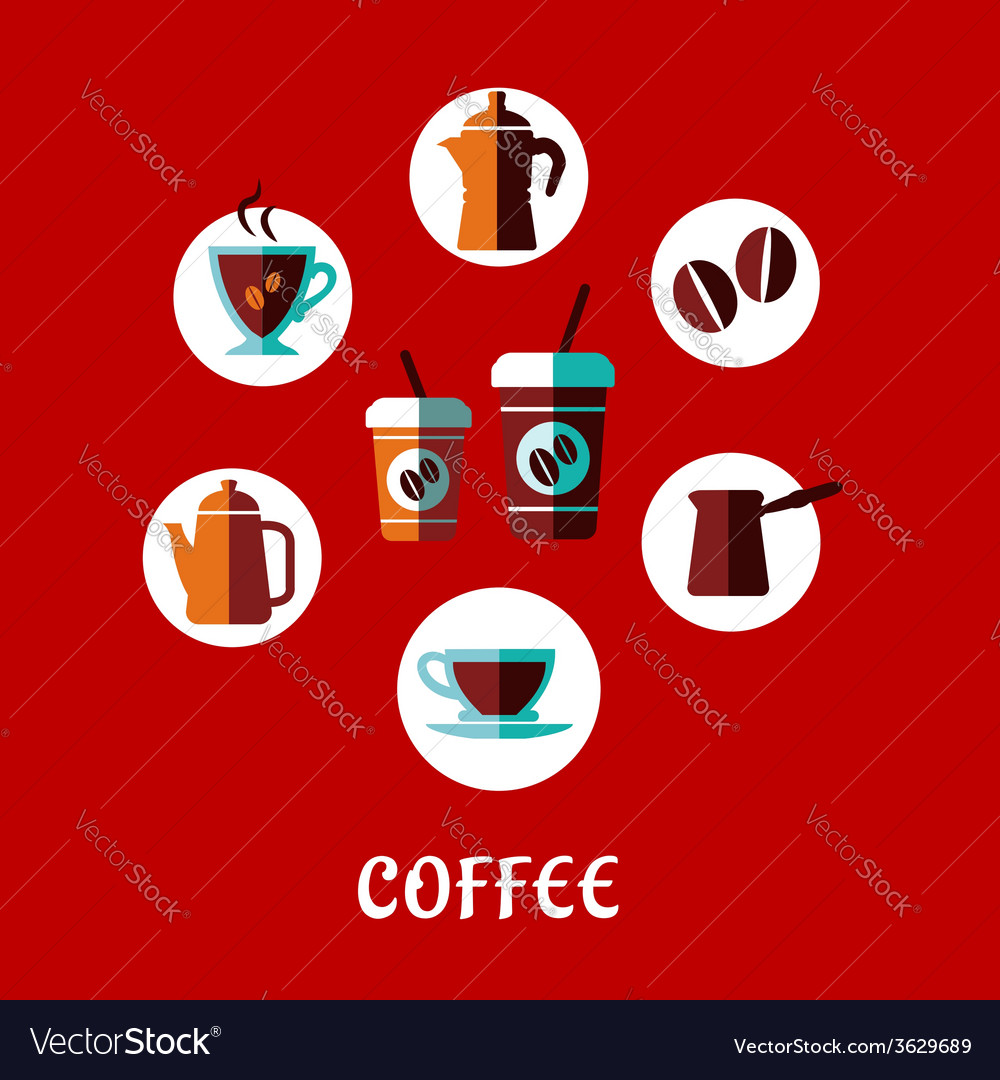 Coffee drink flat concept vector | Price: 1 Credit (USD $1)