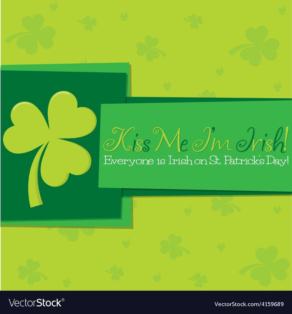 Funky st patricks day card in format vector | Price: 1 Credit (USD $1)