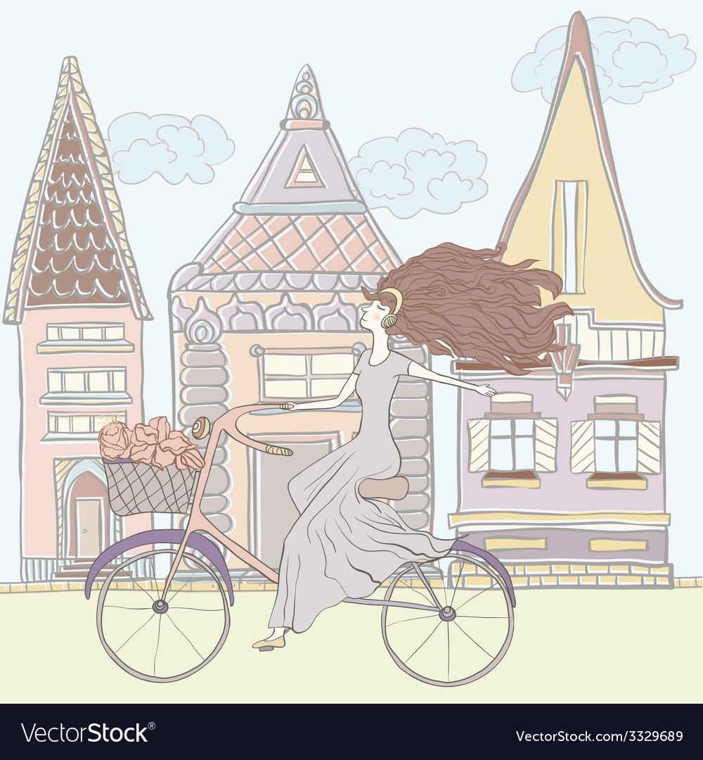 Girlandhouses vector | Price: 1 Credit (USD $1)